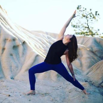 Kayla yoga pose